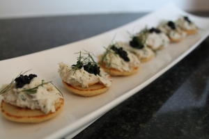 Smoked Trout Creme with creme fraiche, aneth and horse redish...